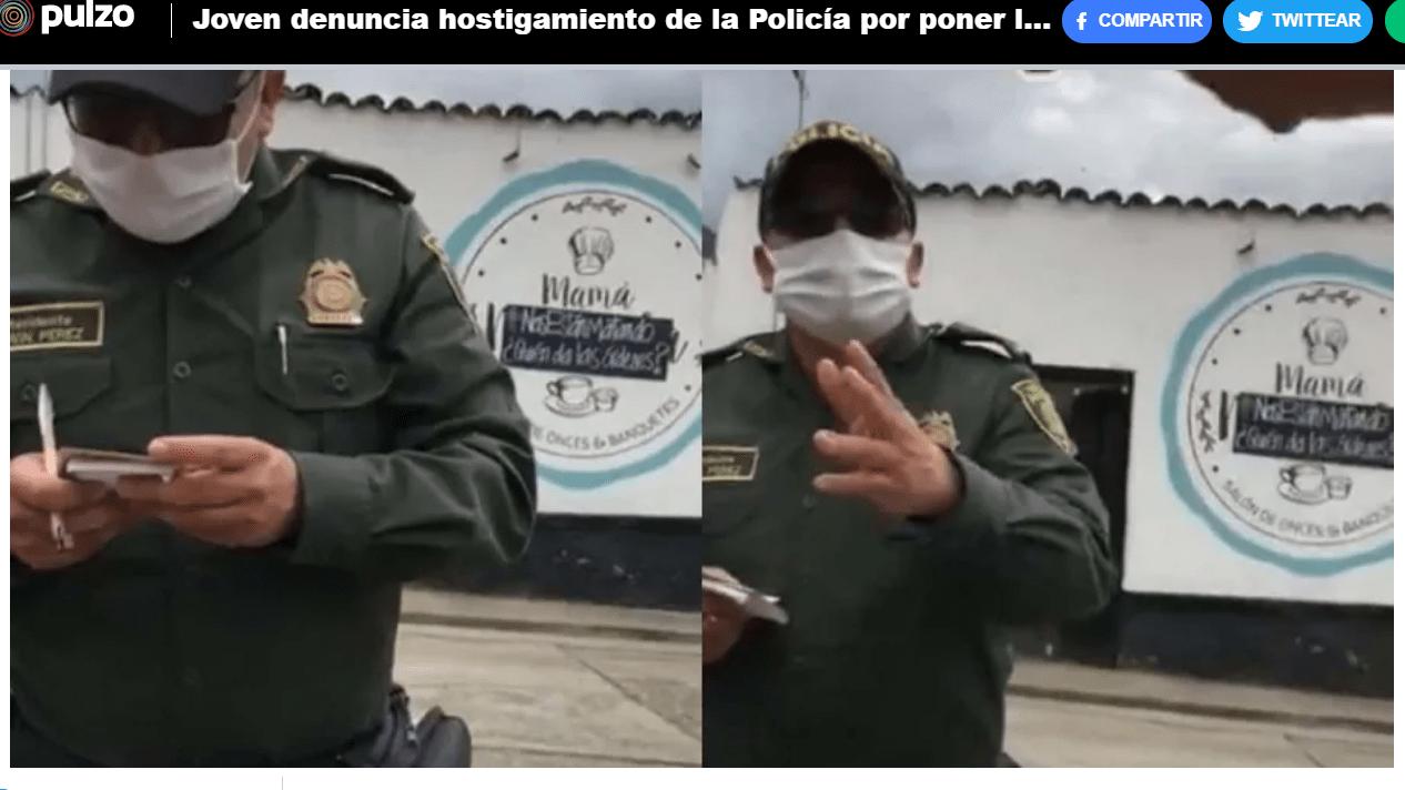 Estamos con Laura Santiesteban – Rechazamos el hostigamiento policivo