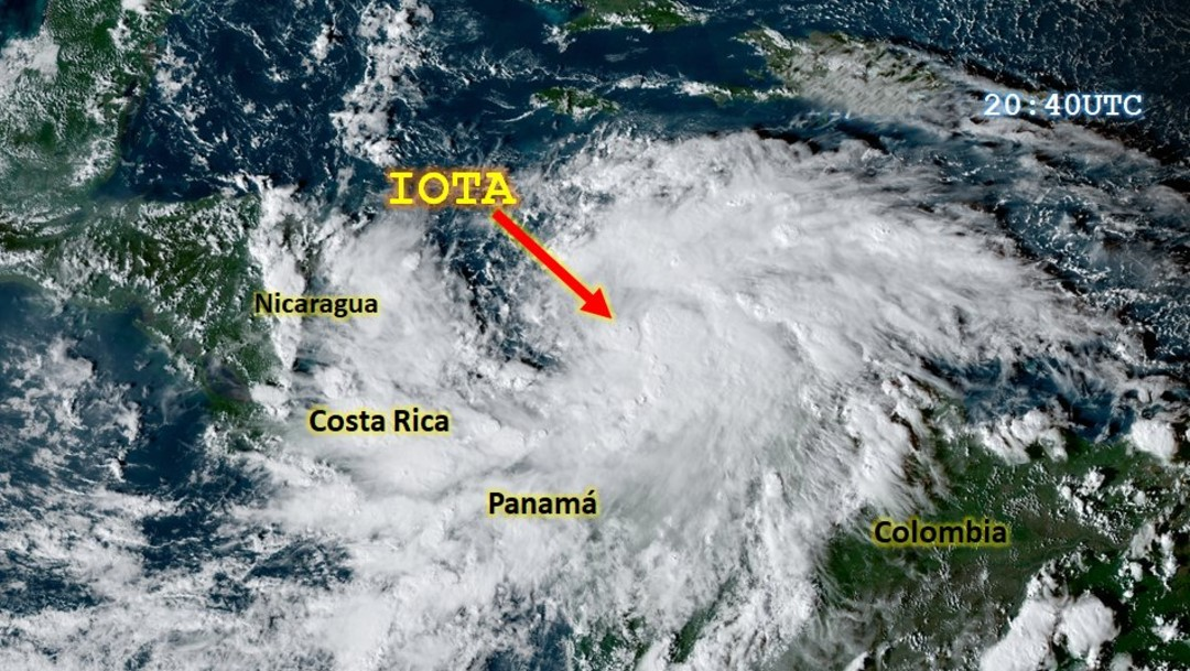 IOTA huracán categoría 5 azotó al Caribe