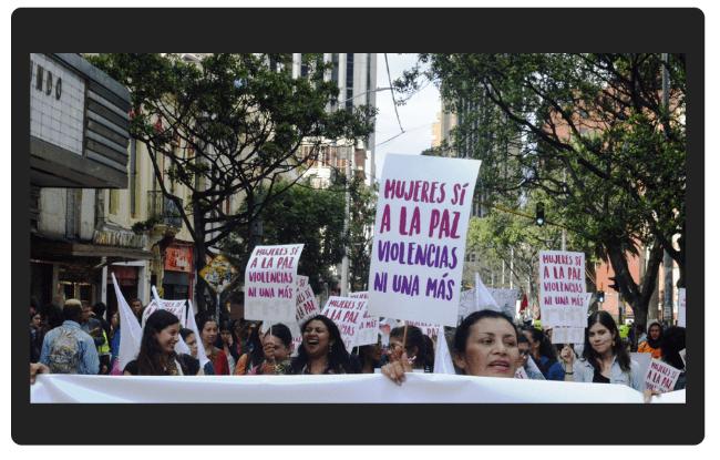 Así fue la marcha contra la violencia de género en Bogotá