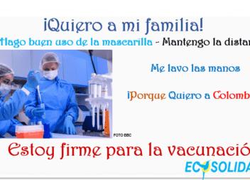 Vacunarse un acto de amor humano. Fases - App 'Mi Vacuna' Colombia