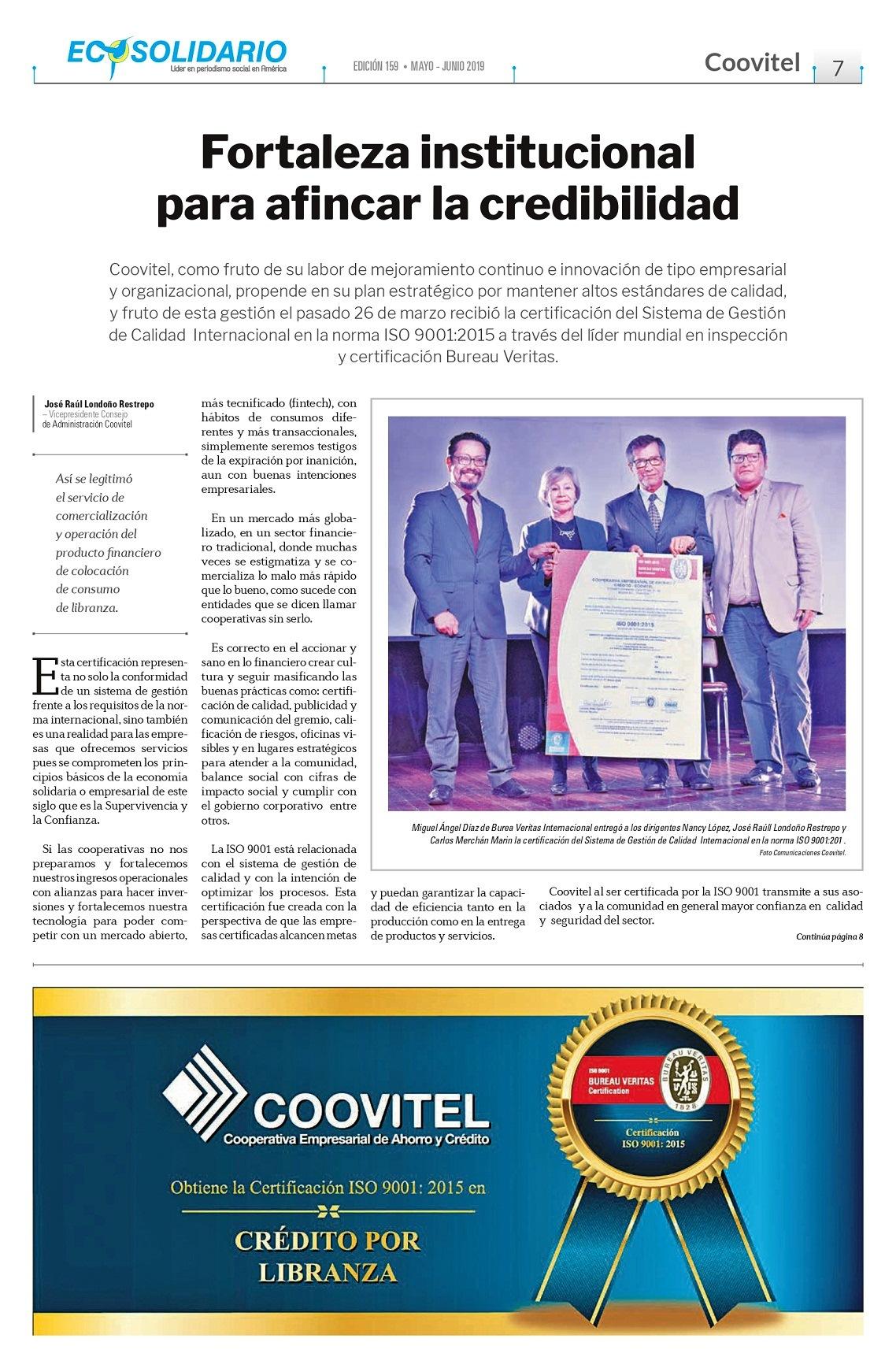 Gobierno corporativo en Coovitel fideliza a sus asociados en integra al modelo en cultura solidaria