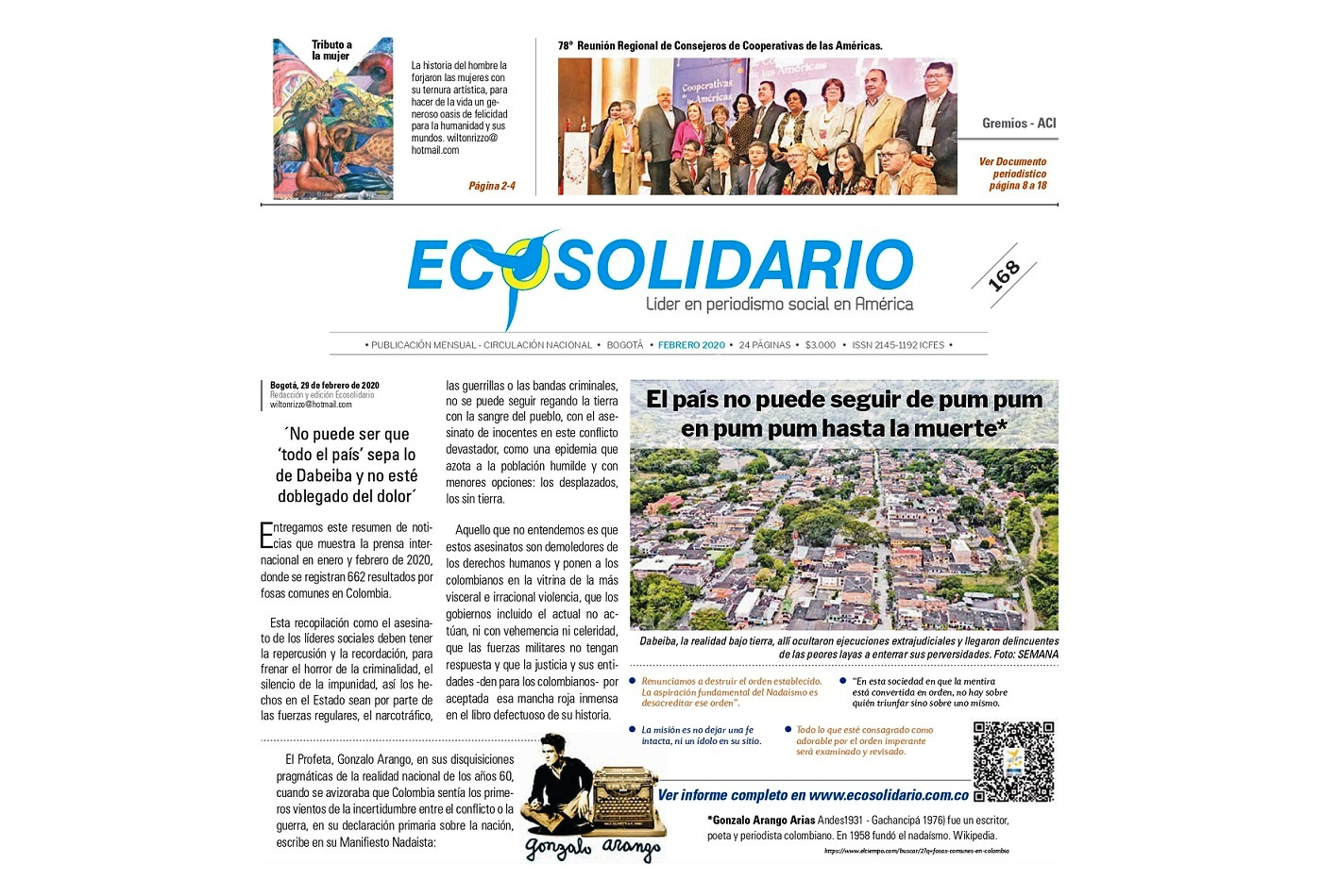Edición Digital ECOSOLIDARIO 168 - Febrero