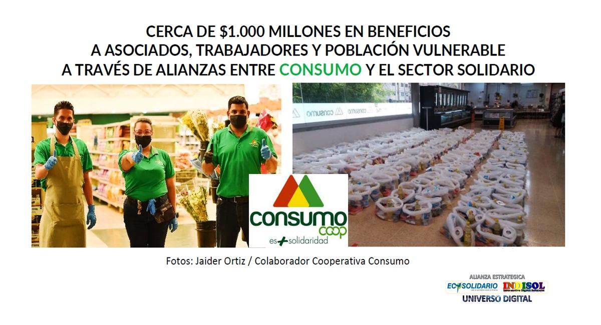 Beneficios a asociados, trabajadores y población vulnerable, cercanos a $1.000 millones, a través de alianzas entre consumo y el sector solidario