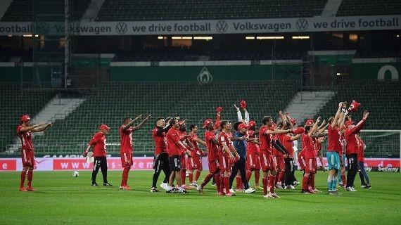 Bayer Munich llenó Weser- Stadion con su encendido 8º triunfo rojo. Regresa el fútbol colombiano a puerta cerrada