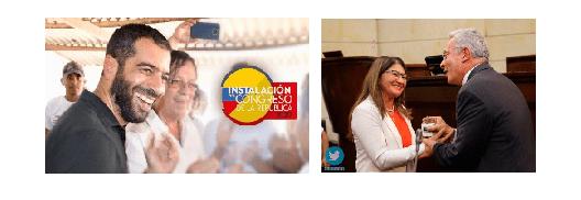 Sandra Ramírez – Farc 2ª. Vicepresidenta. Arturo Char, presidente del Senado. Uribe: rey
