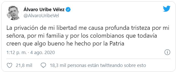 Aseguramiento domiciliario para Álvaro Uribe. Sigue el proceso