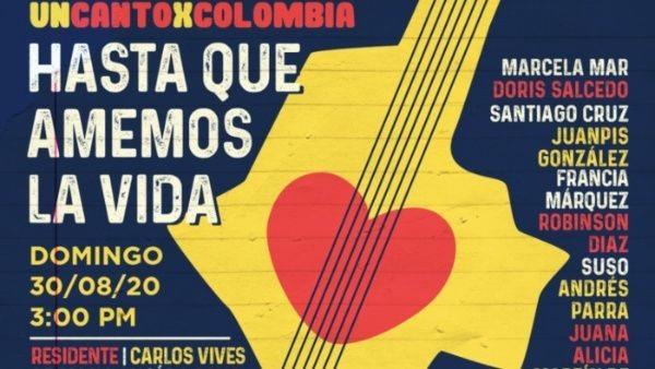 """Concierto """"Un Canto X Colombia"""" contra las masacres"""