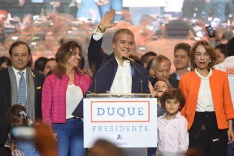 Indagación preliminar CNE  a campaña Duque Presidente.  Cisneros de Maduro a Duque