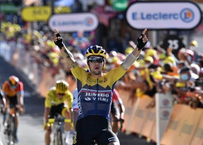 Primož Roglič  del Jumbo-Visma ganó la 4ª  etapa, Nairo en el cuarto lugar