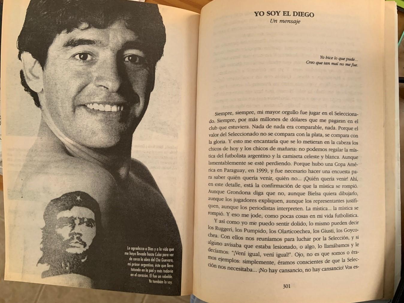 Murió Diego, el coraje, el varón del futbol. Leyenda de amor por su Argentina