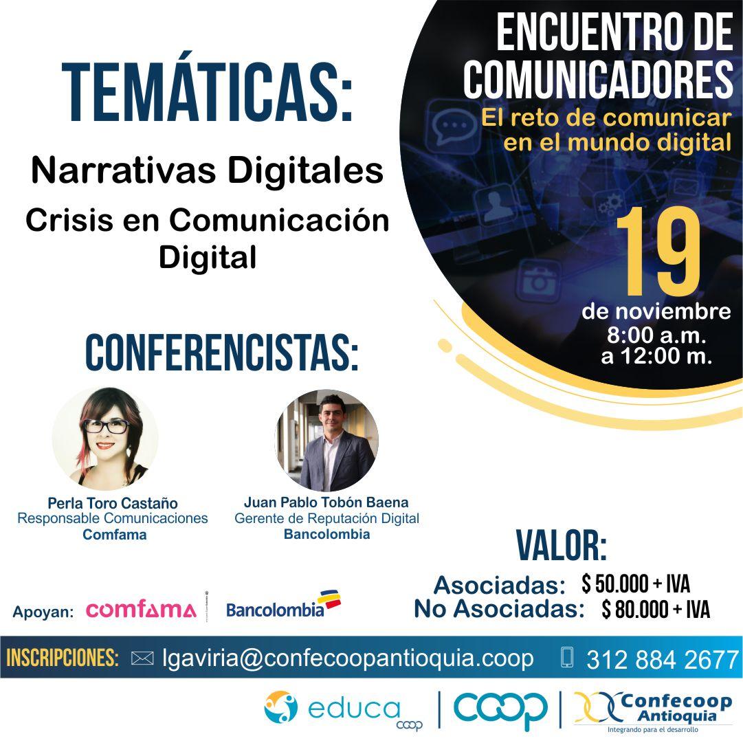 Comunicar bien con liderazgo, la puesta digital de Confeccop Antioquia