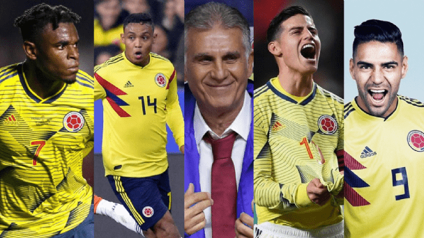Felices los 6 con Lerma y Colombia con ellos la alegría colectiva
