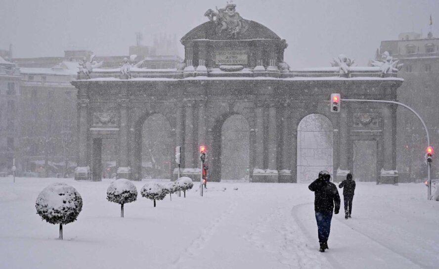Temporal Filomena de nieve azota a Madrid