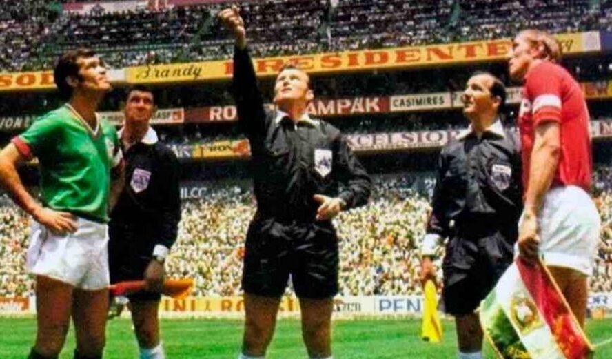 Historia del fútbol, su aporte al mundo.  TV a color. Brasil - México 70
