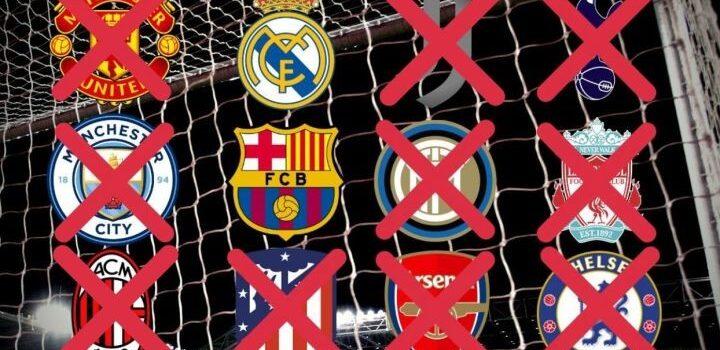 Se desvanece Superliga, Barcelona y Real Madrid huérfanos