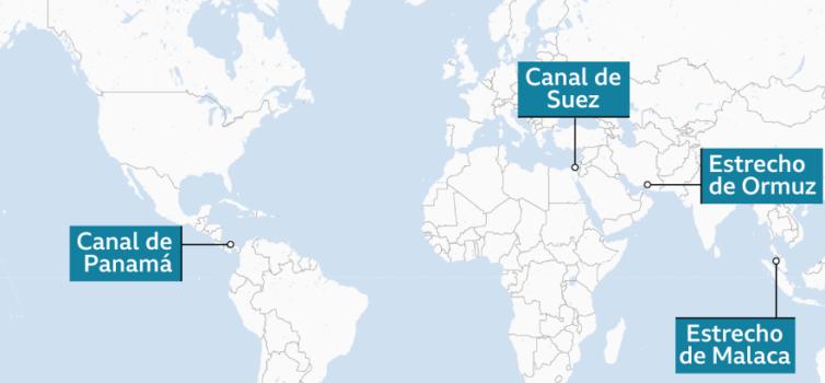 4 pasos marítimos del comercio internacional son vitales para la economía