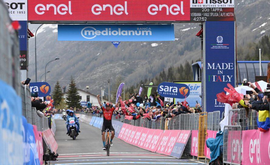 ¡Damiano Caruso gana la 20 del Giro! Egan y Daniel al podio