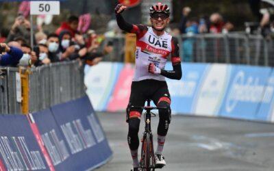 Dombrowski vence la etapa 4 del Giro, De Marchi es Maglia Rosa