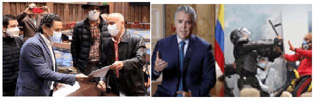 Miguel Ceballos se va incomodo con Uribe. El gobierno intachable de Duque