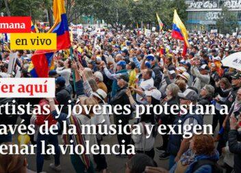 Artistas protestan y llaman a parar la violencia