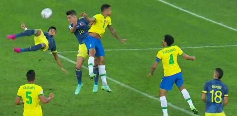 Brasil con pase gol de Pitana 2 Colombia 1. Triunfó la corrupción arbitral