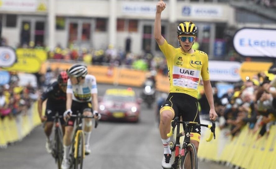 Tres etapas, tres maillots para Tadej Pogacar. Urán al 10º puesto