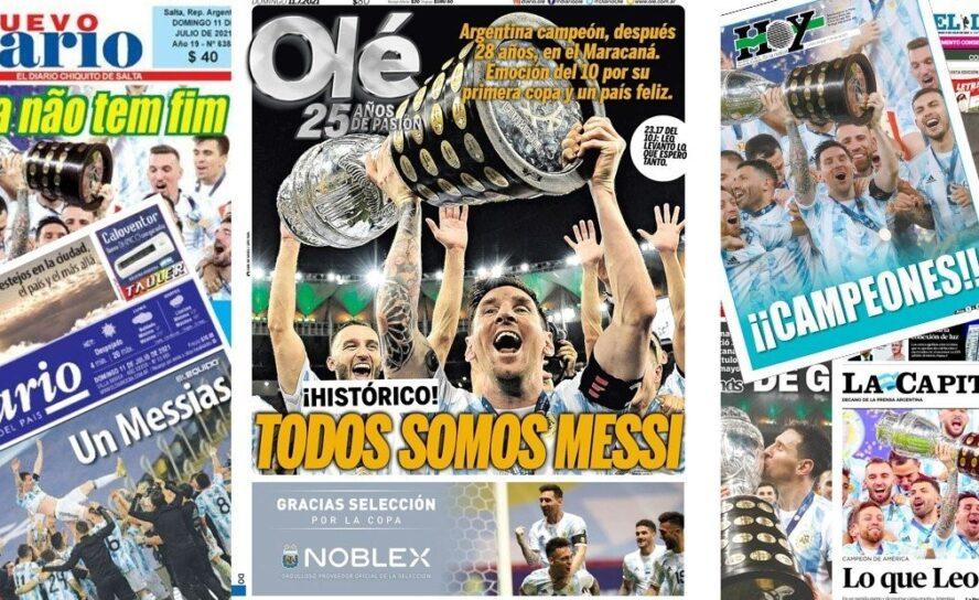 Con Coraje y bravata Argentina de Messi festejó la Copa América