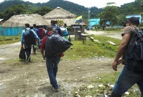 Otro desplazamiento en Bolívar, en el Gobierno de la paz con legalidad