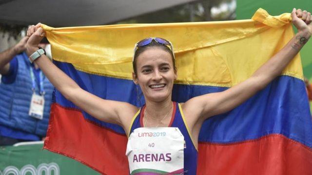 Cosecha de medallas para América Latina, Sandra Arenas plata en marcha