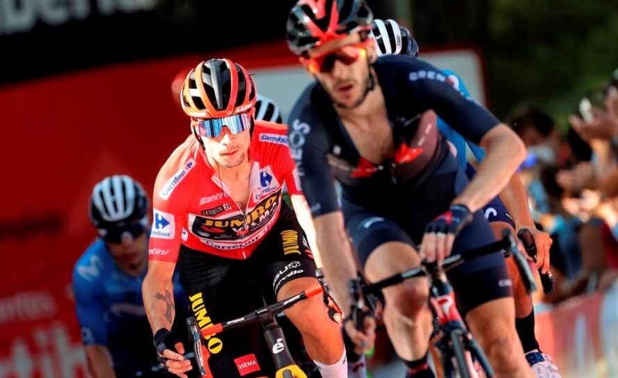 Roglic lider, suben Egan y López, se fue Valverde. Stores ganó la 7ª
