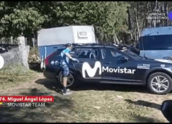 Unzué le grito que parara y López se bajó de la bicicleta…