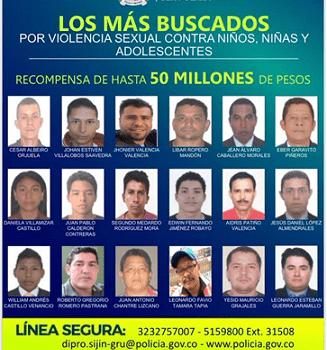 Cartel: Peligrosos abusadores de menores en Colombia. Cae viajero Jhonier Valencia